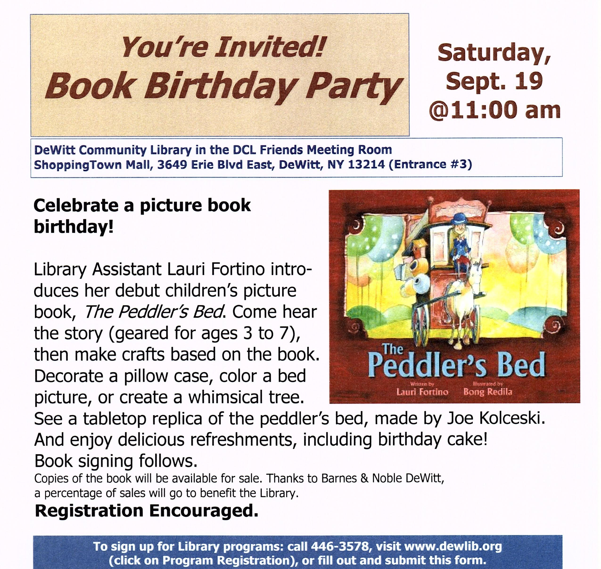 Garcia Winner Books Book Birthday Party