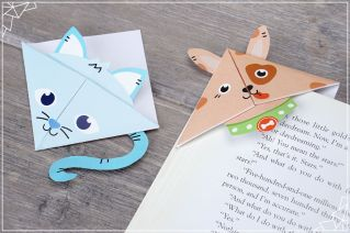Cat and Dog origami bookmarks (photo property of Personal Creations)