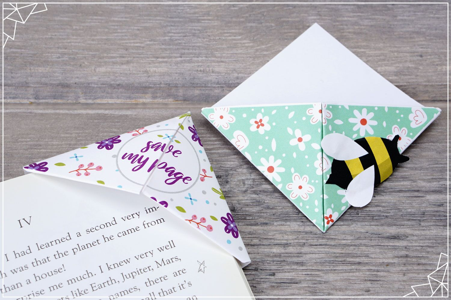 flower and bee bookmark