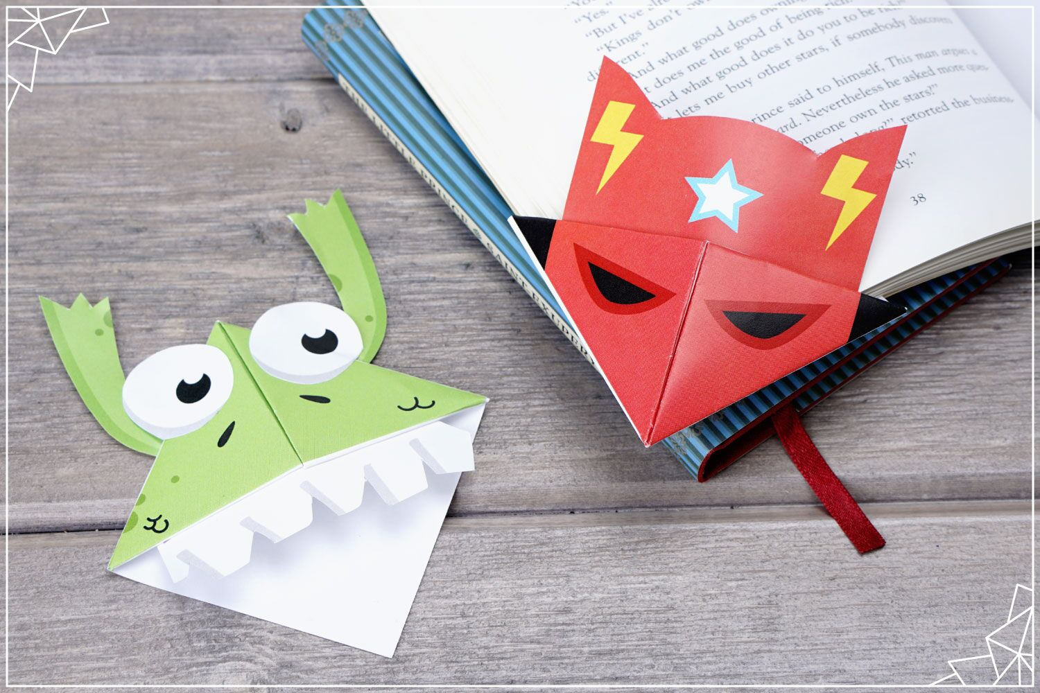 superhero and monster bookmarks